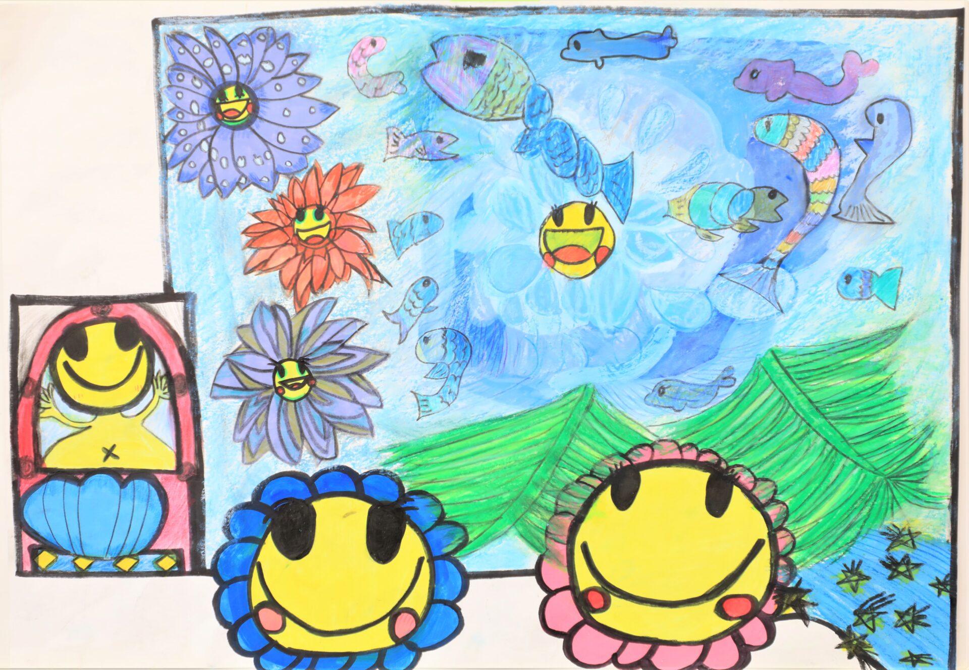 第1回小学生絵画コンクールの表彰式を行いました